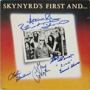LYNYRD SKYNYRD SIGNED ALBUM COVER