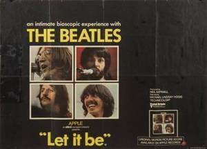 THE BEATLES LET IT BE UK FILM POSTER