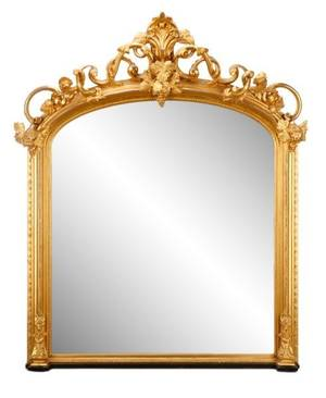 Regal Louis XVI Style Giltwood Mirror 19th C