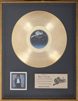 MICHAEL JACKSON GOLD INHOUSE RECORD AWARD