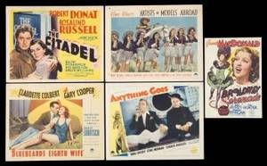 A COLLECTION OF 1930S THEMED LOBBY CARDS  I