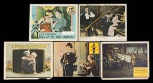 A COLLECTION OF SILENT MOVIE THEMED LOBBY CARDS