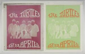 THE TURTLES POSTER AND PRINTING PLATES