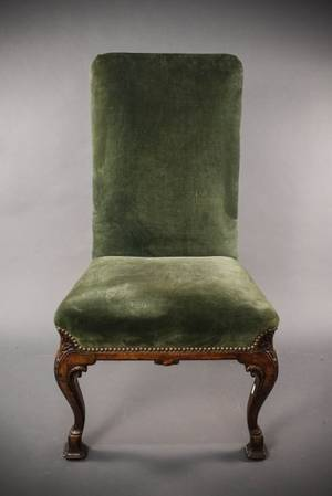 English George III Style Walnut Side Chair