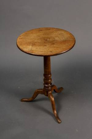 American 19th C Mahogany Candle Stand