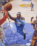 CARMELO ANTHONY SIGNED DENVER NUGGETS PHOTOGRAPH