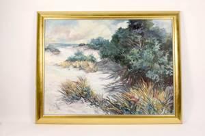 Joan Hilliard Marsh View Oil on Canvas