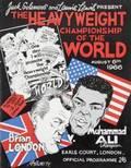 MUHAMMAD ALI VS BRIAN LONDON 1966 OFFICIAL ONSITE FIGHT PROGRAM