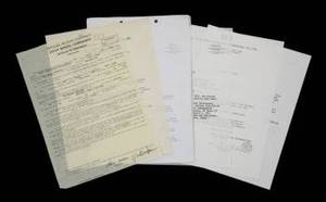 MUHAMMAD ALI VS MAC FOSTER 1971 FIGHT DOCUMENTS AND CONTRACT GROUP