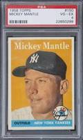 MICKEY MANTLE 1958 TOPPS 150 GRADED PSA 4