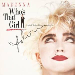 MADONNA SIGNED ALBUM COVER