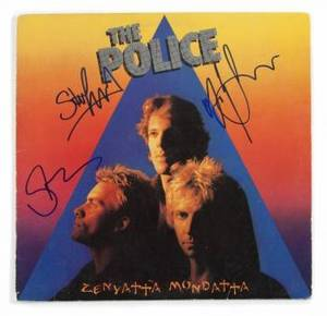 THE POLICE SIGNED ALBUM COVER