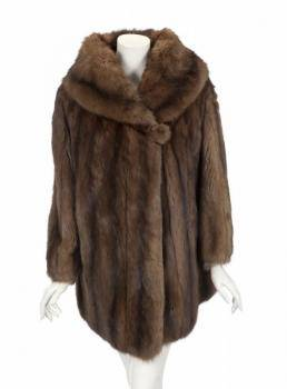 PHYLLIS DILLER NATURAL RUSSIAN SABLE COAT
