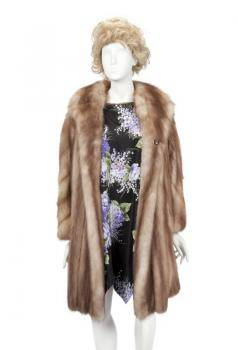 PHYLLIS DILLER WORN FUR COAT AND DRESS