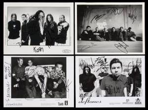 COLLECTION OF BAND SIGNED IMAGES