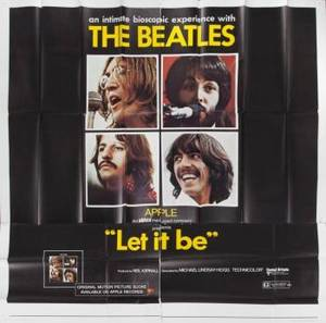 THE BEATLES LET IT BE MOVIE POSTER