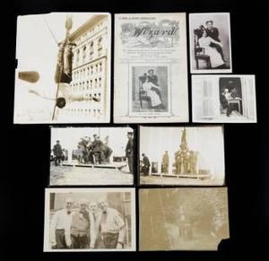 HARRY HOUDINI PHOTOGRAPHS AND EPHEMERA