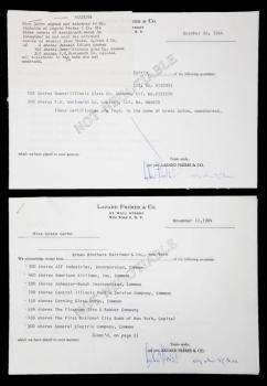 GRETA GARBO INVESTMENT DOCUMENTS
