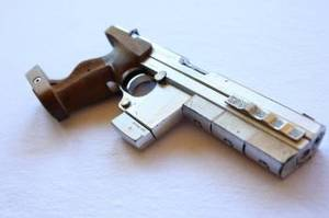 HERO CUSTOM CHROMED PISTOL USED BY BRIDGET FONDA IN POINT OF NO RETURN