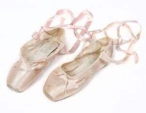CYD CHARISSE PINK SATIN BALLET SLIPPERS