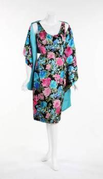 ELIZABETH TAYLOR PHILIP HULITAR COCKTAIL DRESS