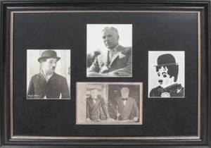 CHARLIE CHAPLIN SIGNED PHOTOGRAPH DISPLAY