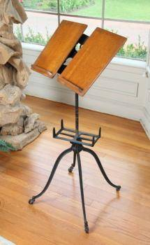 SHEET MUSIC CABINET AND EDWARDIAN MUSIC STAND