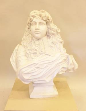 Large Marble Sculptural Bust Beethoven