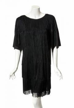 PHYLLIS DILLER PUBLICITY EVENT WORN FRINGED DRESS