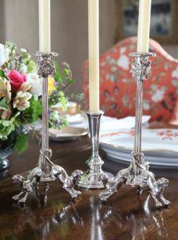 SET OF FOUR RENAISSANCE STYLE CANDLESTICKS