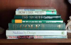 SEVEN INSCRIBED GOLF THEMED BOOKS