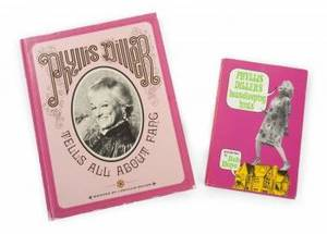 TWO INSCRIBED PHYLLIS DILLER BOOKS