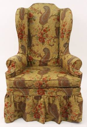 Queen Anne Style Wingback With Slipcover