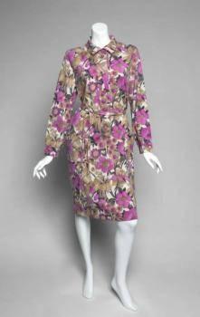 GRETA GARBO FLORAL SHIRT DRESS