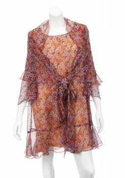 PHYLLIS DILLER AWARDS SHOW FLORAL DRESS