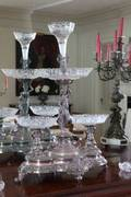 19TH CENTURY SILVER AND CRYSTAL EPERGNE