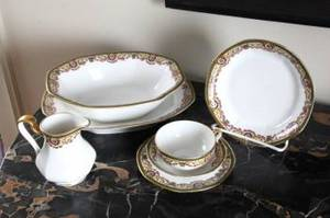 PARTIAL SET OF GUERIN LIMOGES CHINA