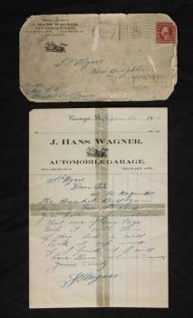 HONUS WAGNER 1911 HAND WRITTEN AND SIGNED LETTER