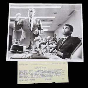 MUHAMMAD ALI 1967 CALIFORNIA ATHLETIC COMMISSION WIRE PHOTOGRAPH
