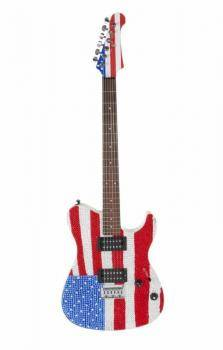 RICK SPRINGFIELD SIGNED AND PLAYED GUITAR