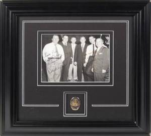 DRAGNET PROP BADGE AND SIGNED PHOTOGRAPH