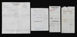 GRETA GARBO COLLECTION OF FABRIC AND RECEIPTS