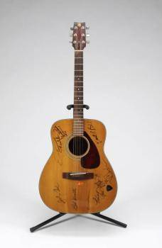 JOHNNY CASH AND OTHERS SIGNED GUITAR