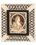 AN IVORY PLAQUE WITH PORTRAIT OF ANNA IOANNOVNA ARKHANGELSK 18TH C