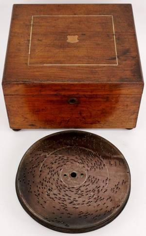 Kalliope Tabletop Music Box  15 Discs