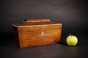 Sarcophagus Shaped Rosewood Tea Caddy