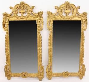 Pair of Gilt Louis XVI Style Mirrors