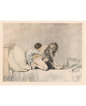 MIHALY VON ZICHY RUSSIAN 18291906 Set of 5 Erotic Lithographs