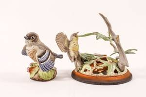 Two Boehm Porcelain Bird SculpturesFigurines
