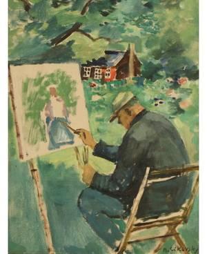 NICOLAI CIKOVSKY RUSSIANPOLISHAMERICAN 18941984 David Burliuk Long Island NY